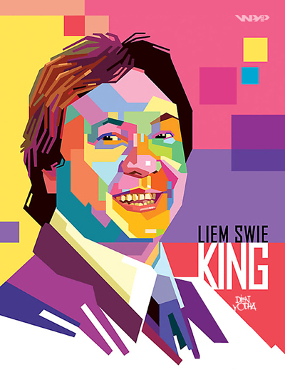 <span id=titlo>Liem Swie King in Pop Art</span><br><span id=shortdes>Desain Yodha Chaerudin<br> © WPAP Community</span><br><span id=des></span>